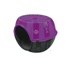 Toca do gato plastico paris lilas - Furacao Pet - 53x41x40cm