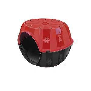 Toca do gato plastico paris vermelha - Furacao Pet - 53x41x40cm