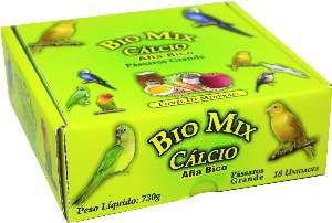 Siba Cálcio e Mineral para Pássaros Grande - Bio Mix - c/ 18 un