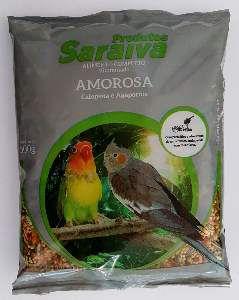 Racao calopsita amorosa 500g - Saraiva - com 10 unidades - 20x20x15cm