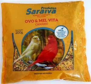 Racao vita amarela para passaros 500g - Saraiva - com 10 unidades - 20x20x15cm