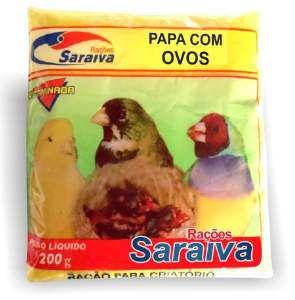 Racao papa ovos para filhotes 200g - Saraiva - com 25 unidades - 20x20x15cm
