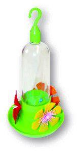 Bebedouro para Beija-Flor 3 Flores e Bandeja - Alvorada - 40 ml