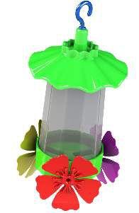 Bebedouro plastico para beija-flor premium 220ml - Jorani - 5x20cm