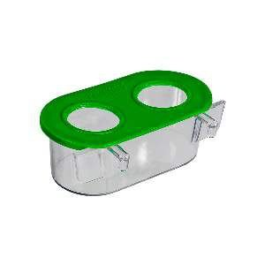 Comedouro 2 Furos Cristal - Jel Plast - 90 ml - c/ 12 un