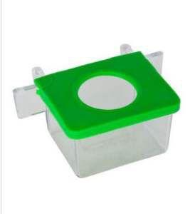 Comedouro 1 Furo Cristal - Jel Plast - 30 ml - c/ 12 un