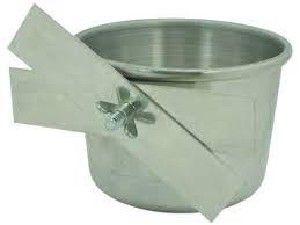 Caneca aluminio borboleta para passaros pequena 100 ml - Metalurgica Tra - com 6 unidades - 4x6cm
