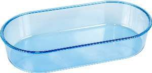 Banheira Plástica Oval para Pássaros - Jel Plast - 200 ml - Azul - c/ 12 un