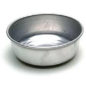 Banheira aluminio para passaros media 200ml - Metalurgica Tra - com 6 unidades - 2,8x10cm