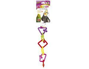 Brinquedo plastico Bird Toy Pequeno - Furacão Pet - 20x4x4cm