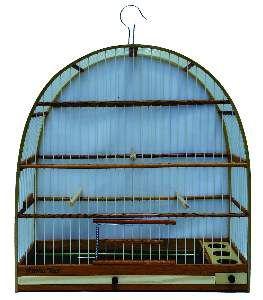 Gaiola fibra arco Nº 3 - Gaiolas Tietê - (43,1 cm x 43,5 cm x 18,2 cm)