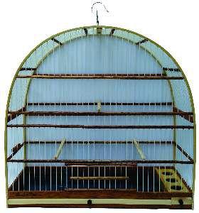 Gaiola fibra arco Nº 5 - Gaiolas Tietê - (52,5 cm x 45 cm x 19 cm)