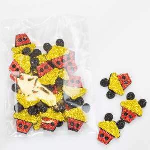 Adesivos aplicaveis cupcake - Fernandes Laços - 20 unidades - 13x9x2cm