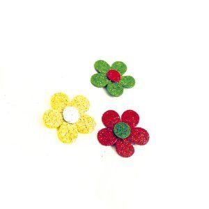 Adesivos aplicaveis natal flor M - Fernandes Laços - com 40 unidades
