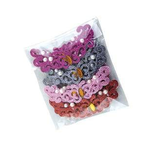 Adesivos aplicaveis tiara borboleta - Fernandes Laços - com 20 unidades