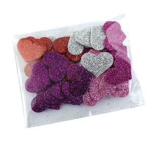 Adesivos aplicaveis coracao com glitter G - Fernandes Laços - com 40 unidades