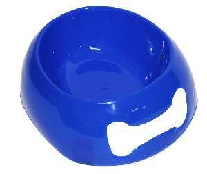 Comedouro soft pequeno azul 500ml - Club Still Pet - com 12 unidades - 20,3x6,5x17,8cm