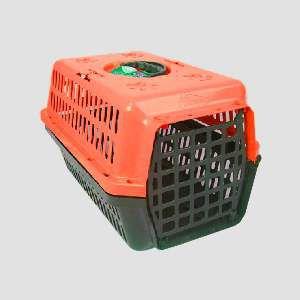 Caixa transporte plastica laranja N4 - Club Pet Alvorada - 61,5x42x36cm