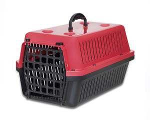 Caixa transporte plastica vermelha N1 - Club Pet Alvorada - 45x30x27cm