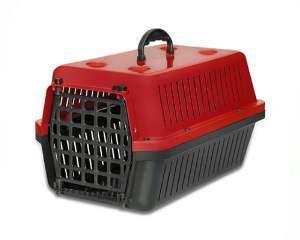 Caixa transporte plastica vermelha N4 - Club Pet Alvorada - 61,5x42x36cm