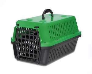 Caixa transporte plastica verde N4 - Club Pet Alvorada - 61,5x42x36cm