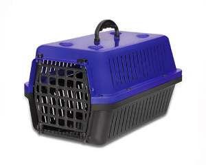 Caixa transporte plastica azul N4 - Club Pet Alvorada - 61,5x42x36cm
