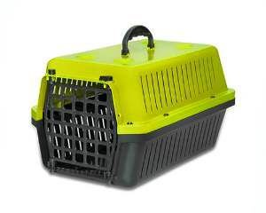 Caixa transporte plastica amarela N3 - Club Pet Alvorada - 57x36,5x30cm