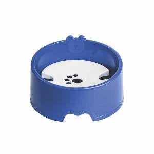 Bebedouro plastico para pelos longos azul - Club Pet Maxx - 21x21x6cm