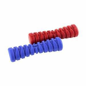 Brinquedo macico halteres vermelho - Club Pet Maxx - 13,5cm