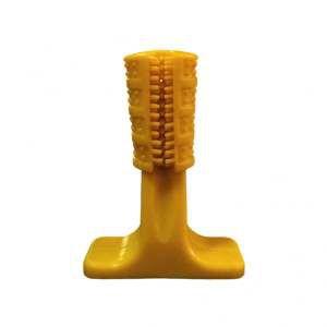 Brinquedo plastico escova canina amarela P - Club Pet Maxx - 11cm
