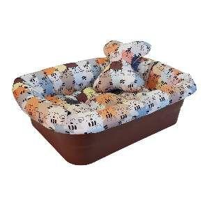 Cama plastico com tecido gatinhos - Club Pet Maxx - 47x36x14cm