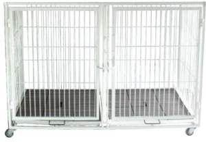 Canil aco horizontal duplo inferior - Pet Ferri - 60x120x80cm