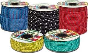 Corda poliester carretel colorido - Firmeza - 6mm - 155m