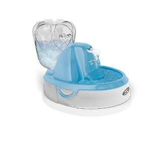 Fonte plastica ligth para caes e gatos azul 110V - Plast Pet - 31,8x24,6x22,8cm