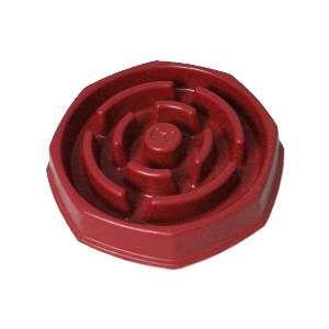 Comedouro plastico lento food timer vermelho - Club Pet Duplas - 31,2x7cm