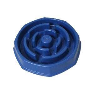 Comedouro plastico lento food timer azul - Club Pet Duplas - 31,2x7cm