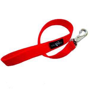 Guia nylon simples - Vermelha - Club Pet Viva - 30x700mm
