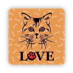 Ima love cat laranja - Tatuagem Mania - 8x8cm
