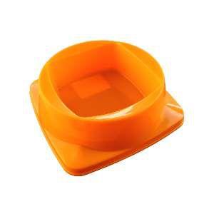 Comedouro plastico premium laranja 300ml - Club Pet Maxx - 15x15x4,5cm