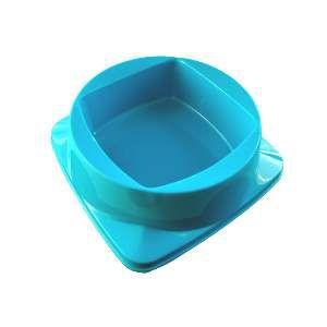 Comedouro plastico premium azul 300ml - Club Pet Maxx - 15x15x4,5cm