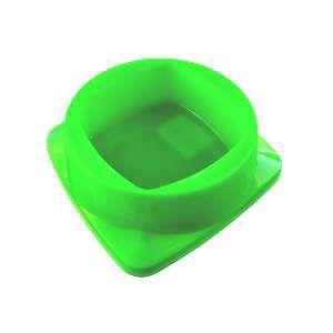 Comedouro plastico premium verde 300ml - Club Pet Maxx - 15x15x4,5cm