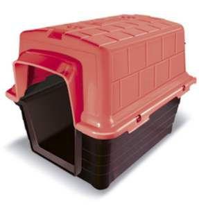 Casa plastico N1 - Vermelha - Furacao Pet - 48x38x36cm