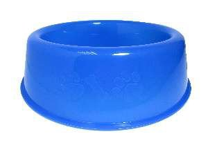 Comedouro plastico pata/osso azul 2500ml - Club Still Pet - 27,5x8,2cm