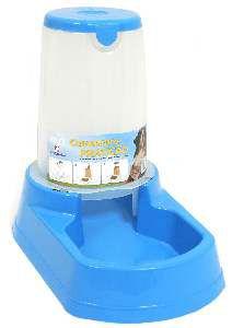 Comedouro plastico praticao automatico grande azul 6,5kg - Club Pet Alvorada - 43x24x31cm