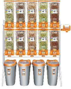 Kit full dispenser laranja - Plast Pet - 10x40L + 4x40L