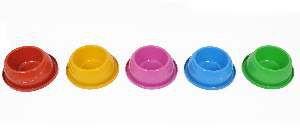 Comedouro e bebedouro plastico antiformiga pequeno - Club Pet Alvorada - com 6 unidades - 20x6,5cm
