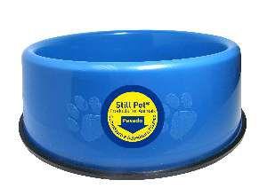 Comedouro pesado pata/osso P azul 750ml - Club Still Pet - 21x5,5cm