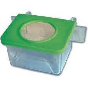 Comedouro plastico 1 furo com gancho com 24 unidades - Plast Pet - 12x9x3cm