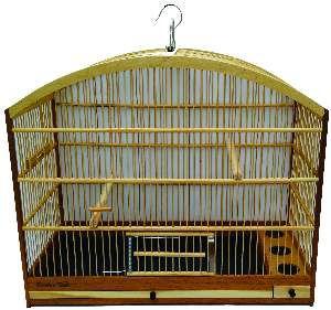 Gaiola para Pixarro Malha Fina Bambu - Gaiolas Tietê - (51 cm x 41 cm x 24 cm)