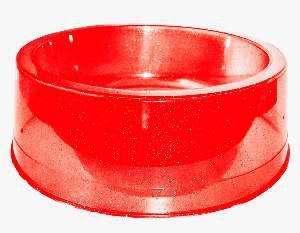 Comedouro plastico com glitter vermelho 1000ml - Pet Toys - 17x5cm